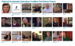 screenshot of faces of all interviewees in National Sustainable Agriculture Oral History Archive Project