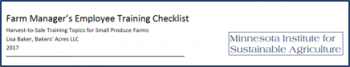 Farm manager training checklist image